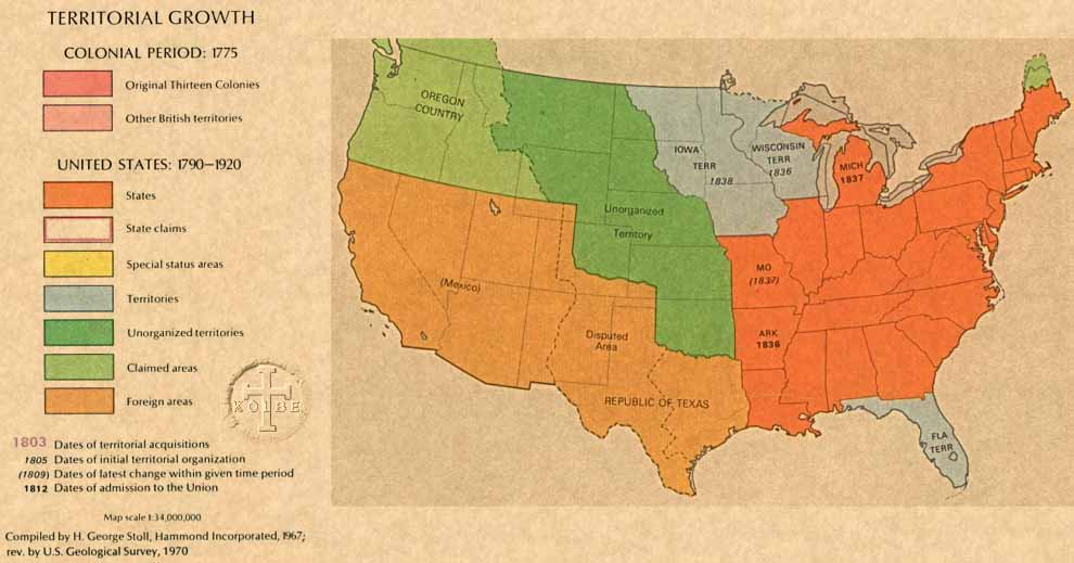 The Kolbe Foundation Historical Map Collection North America - Map of the us in 1840